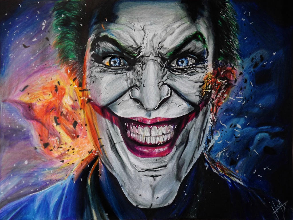 Joker Colour Drawing By Hgalba On Deviantart Colour Drawing