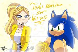 Sonic + Chloe / MLB (Crossover)