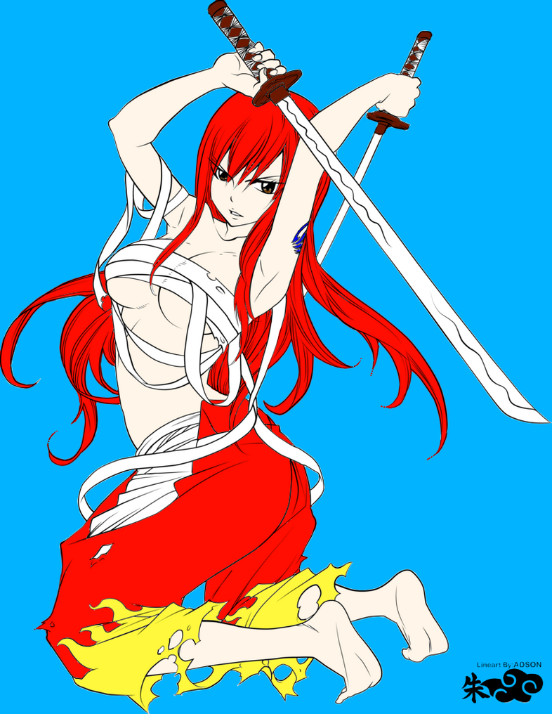 Fairy tail sexy erza scarlet fantasia colored by - Fairy tail erza sexy ...