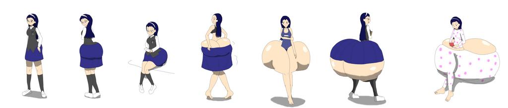 Shiori's Butt Growth by DLeagueman