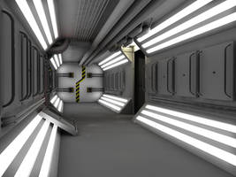 WIP 7 Sci Fi Corridor by 2753Productions