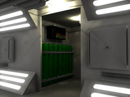 WIP 8 Sci Fi Corridor by 2753Productions
