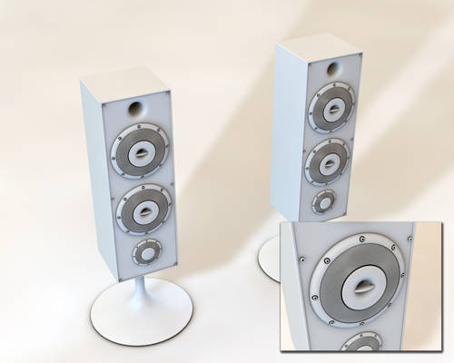 High Poly Speaker WIP 1