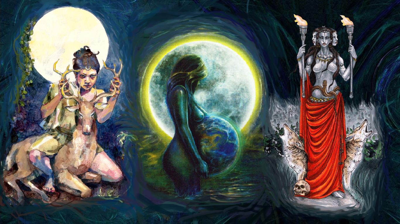 triple moon goddess desktop by tessnightoak on DeviantArt