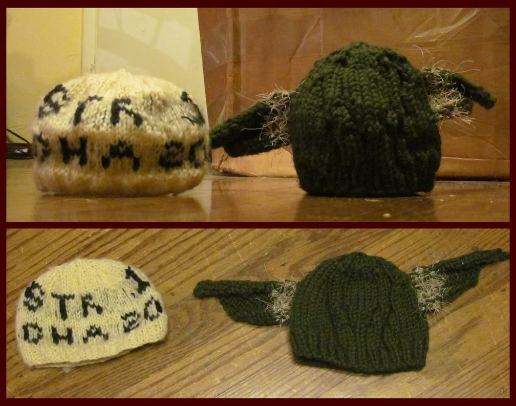 Knitted Baby Hats Yoda And Dungeons And Dragons By