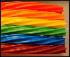 Rainbow Twizzlers by decima
