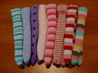 Various Handmade Monster High Doll Socks
