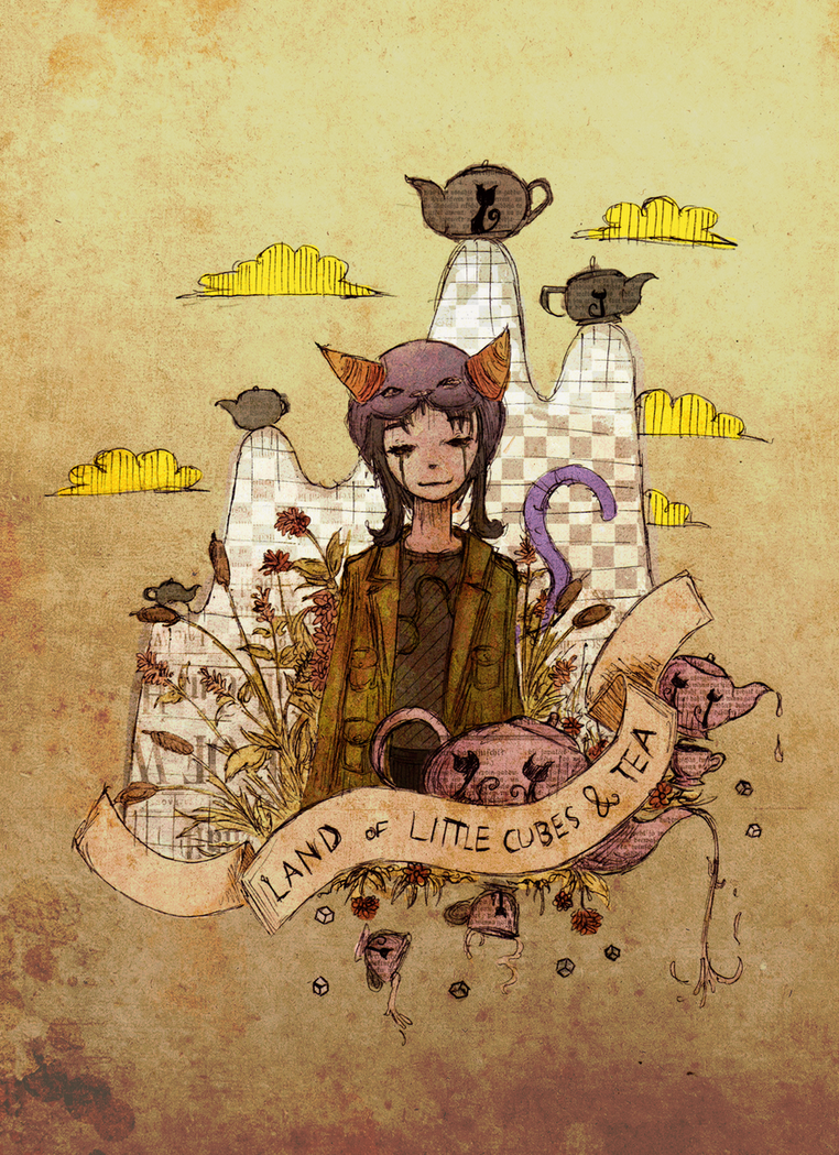 Land of Little Cubes and Tea by atoms2ashes