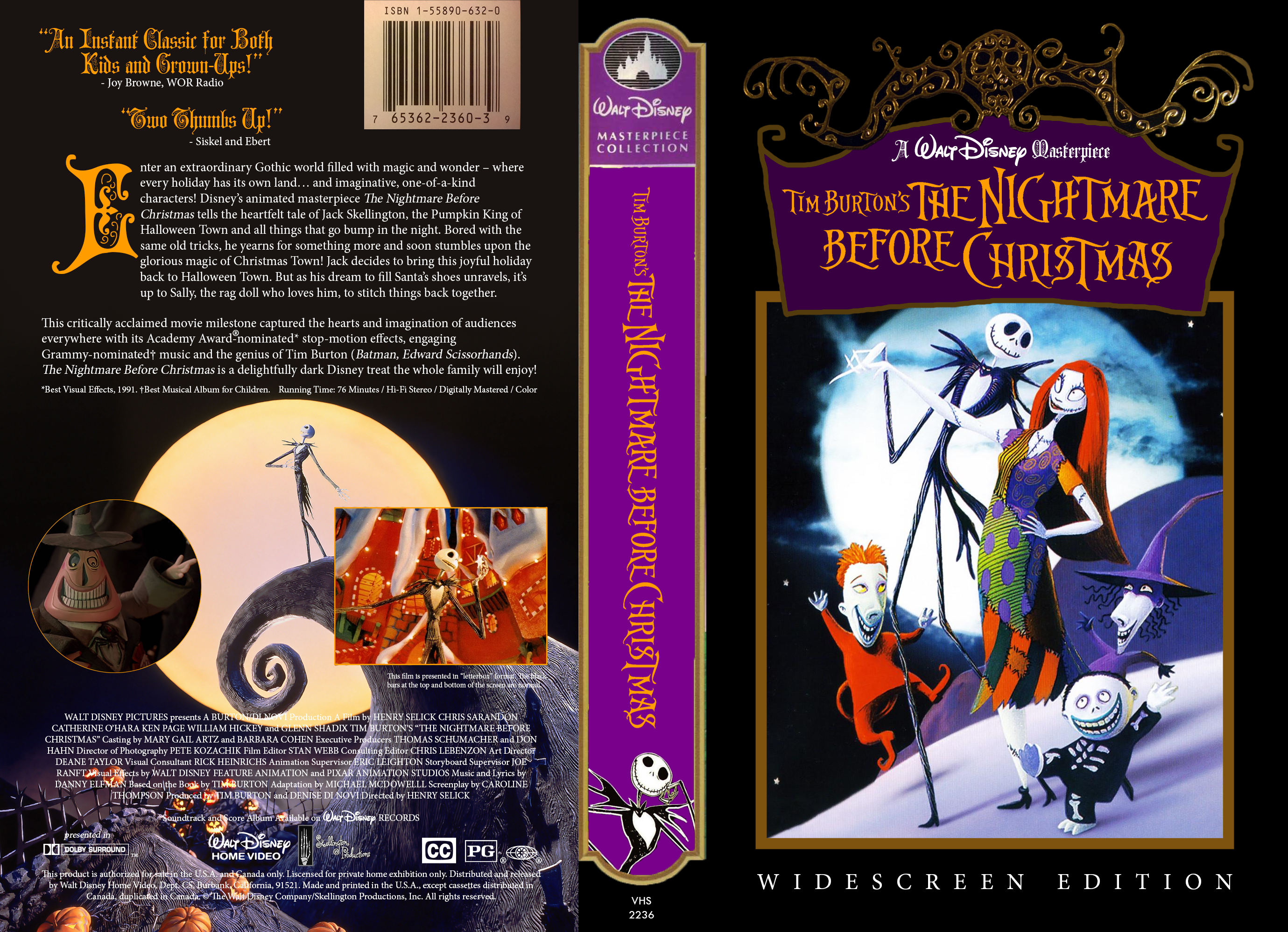 AlterVie - Tim Burton's Nightmare - 1994 VHS Cover by ...