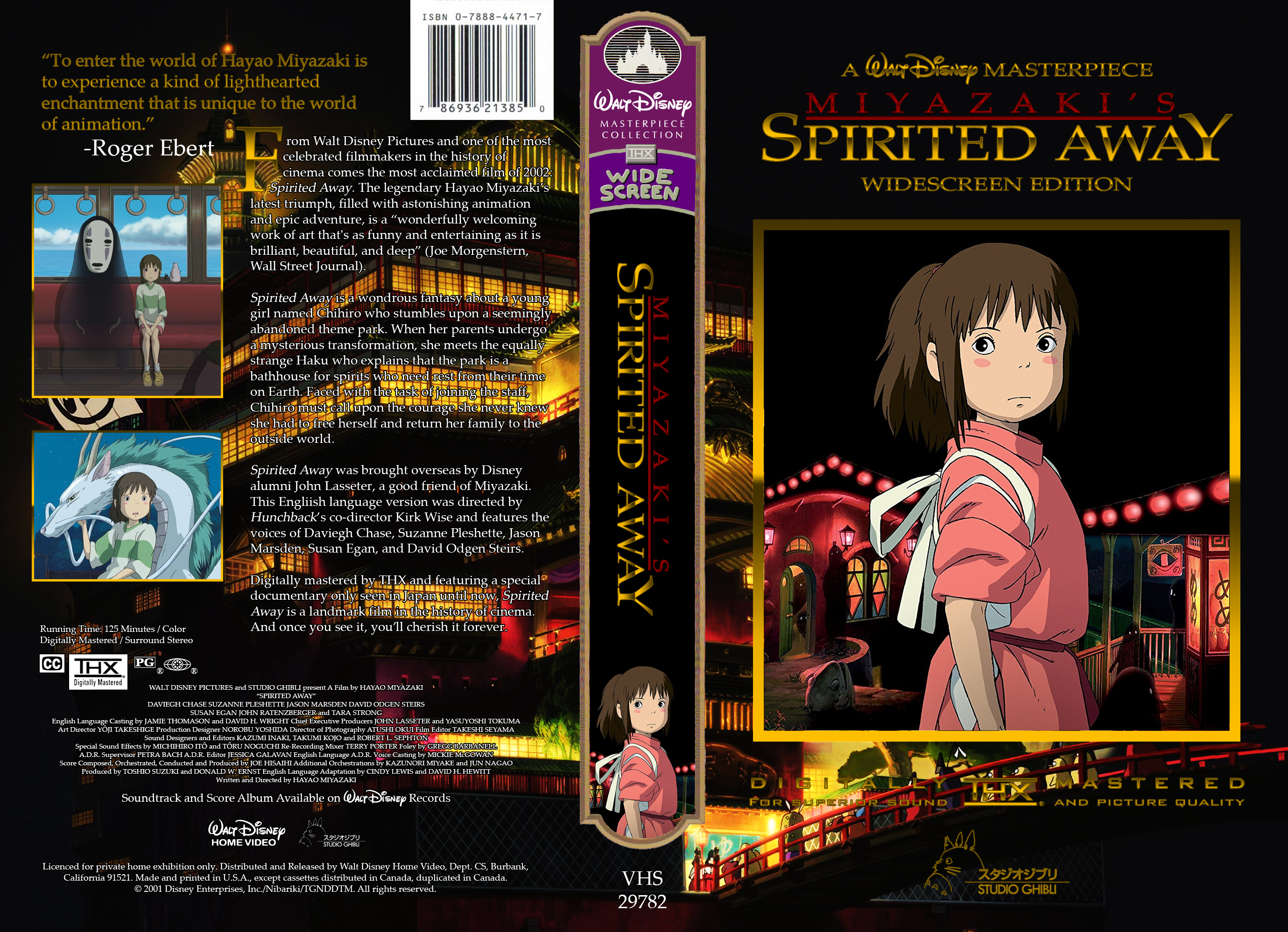 Miyazaki S Spirited Away 2003 Vhs Cover By Thedisney1901atda On Deviantart