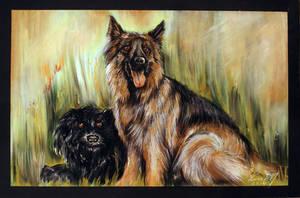 Doggies by garfildus
