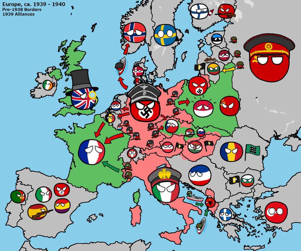 Polandball Map Of The World 2017.Polandball Beginning Of Ww2 In Europe By Kensethfan On Deviantart