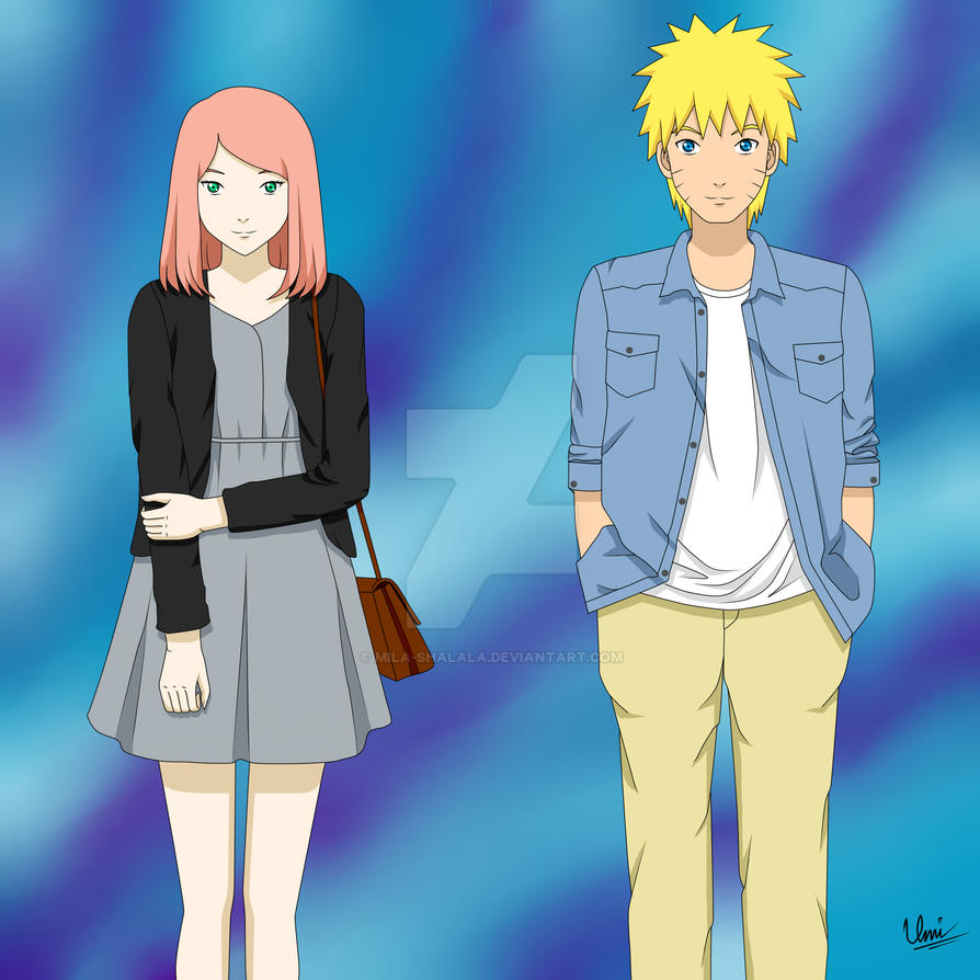 First Date - NaruSaku by mila-shalala