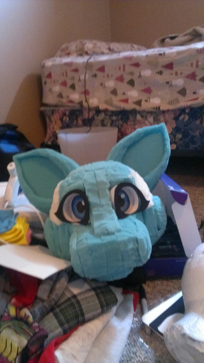 Updated Fursuit Head Commission WIP by JessiJones