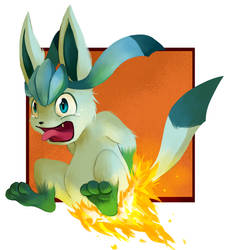 Glaceon's butt on fire :P