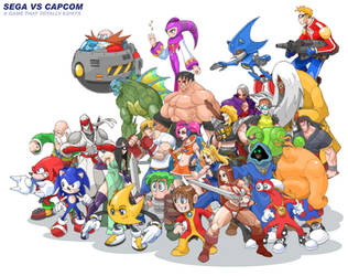 Sega vs Capcom by MurderousAutomaton