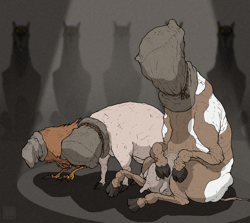 Animal Farm: Interrogation Concept Art by MurderousAutomaton