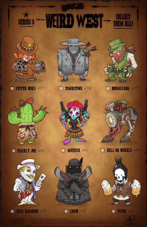 Creepazoids: Weird West by MurderousAutomaton