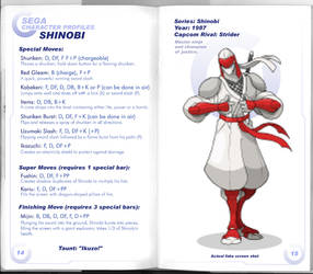 Sega vs Capcom: Shinobi by MurderousAutomaton