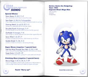 Sega vs Capcom: Sonic by MurderousAutomaton