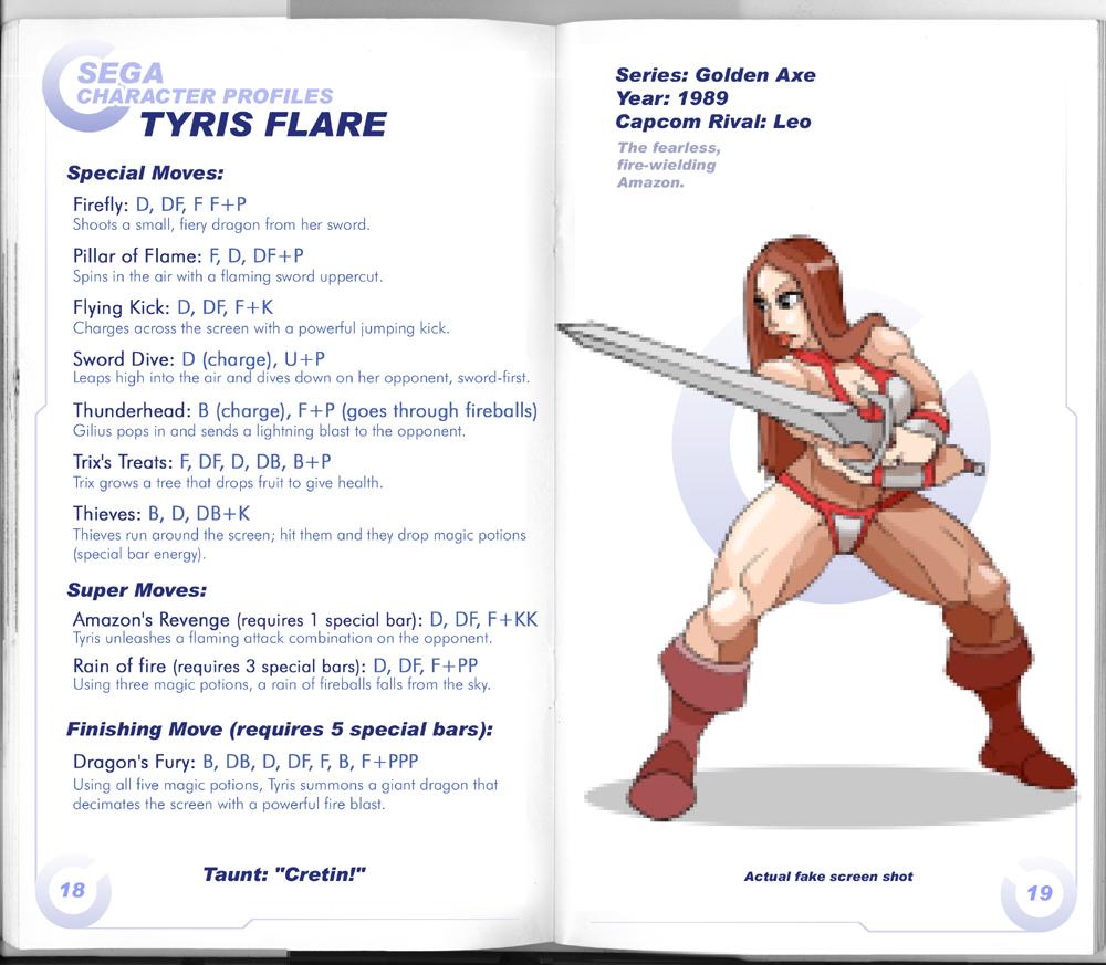 Sega vs Capcom: Tyris Flare by MurderousAutomaton