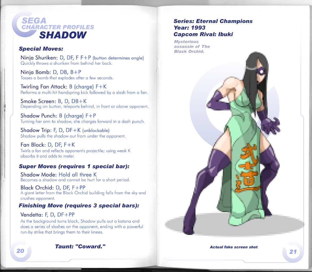 Sega vs Capcom: Shadow by MurderousAutomaton