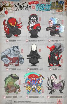 Creepazoids: Ninjas vs Robots