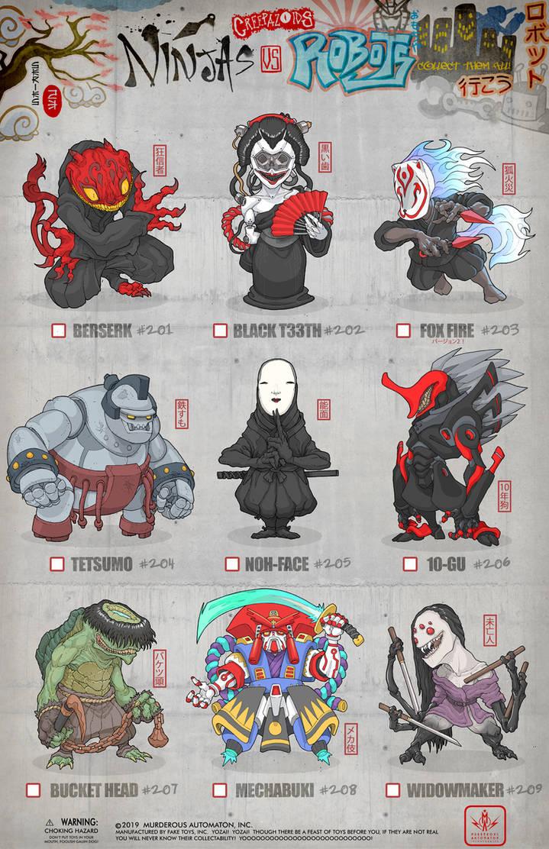Creepazoids: Ninjas vs Robots by MurderousAutomaton