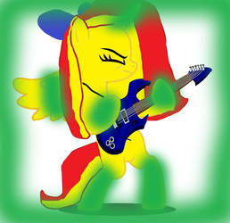 Rainbow City Playing the Guitar