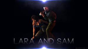 Lara Croft and Sam Fisher Wallpaper