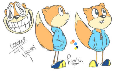 Conker the Squirrel by Rizatch