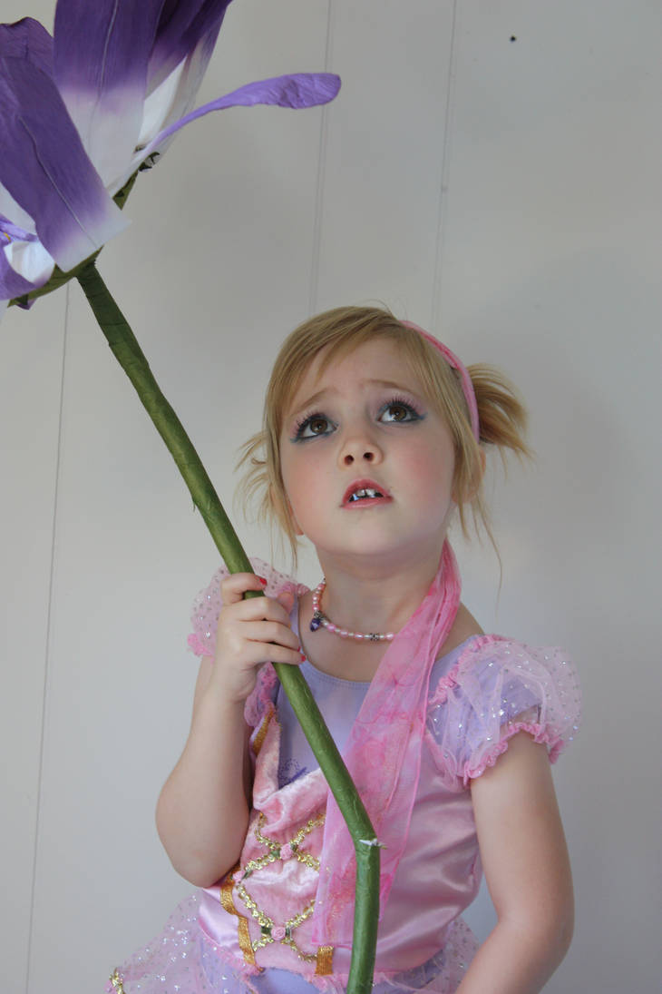 Little girl with flower 3 by LacyFaye