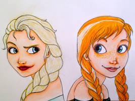 Elsa and Anna : Sister's friendship