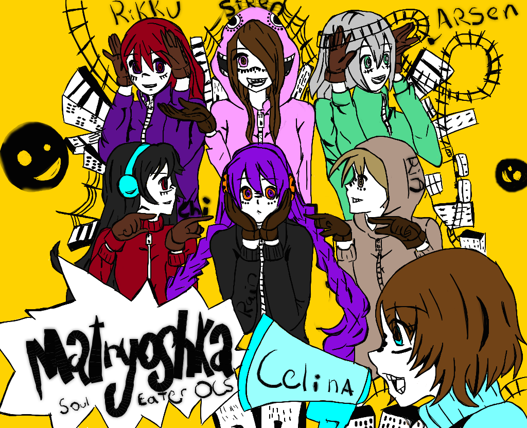 Happy halloween matryoshka soul eater ocs by siren701 on - This is halloween soul eater ...