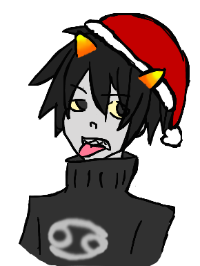 Christmas Karkat by The-fandom-alchemist