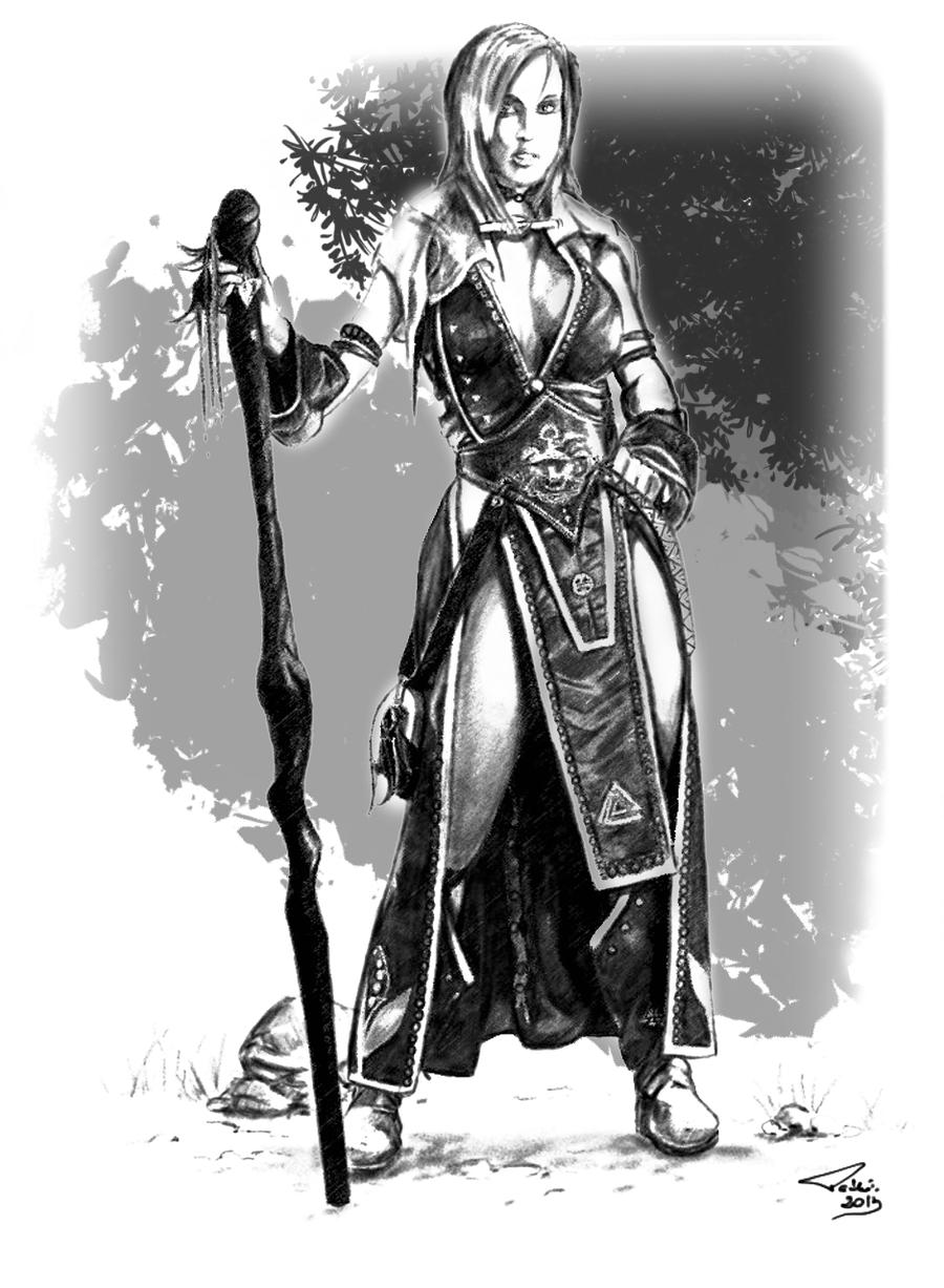 Red Sorceress By Pasztel On Deviantart