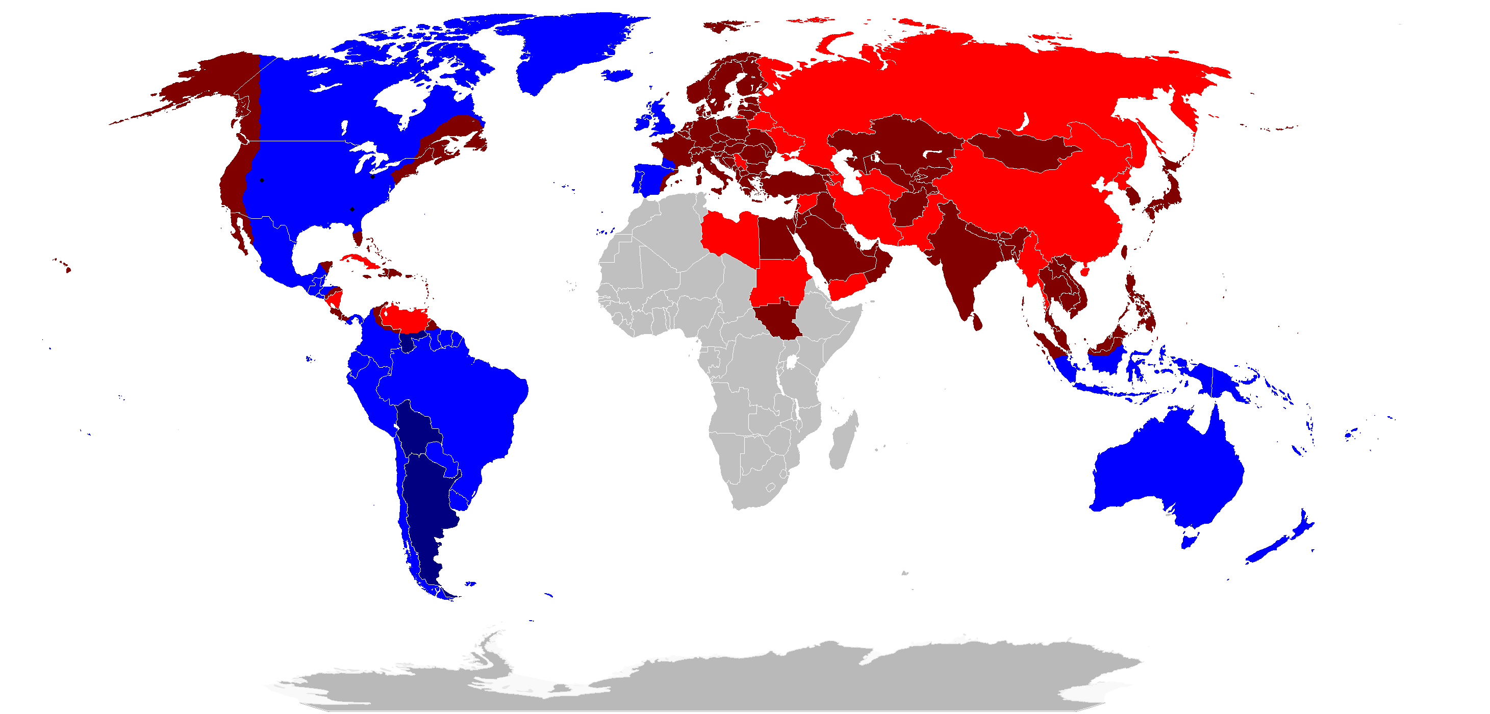 A World In War By Drivanmoffitt On DeviantArt - Map of us allies and enemies