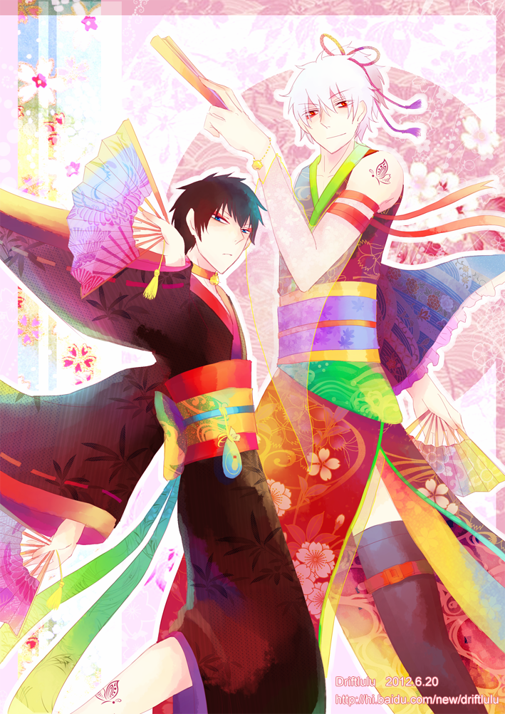 [GinHiji] Fan Dance (light ver) by leaf-wolf