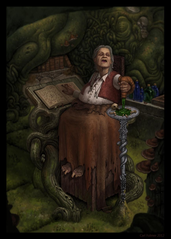 Blisterrot Witch Groghagg by CarlfolmerART