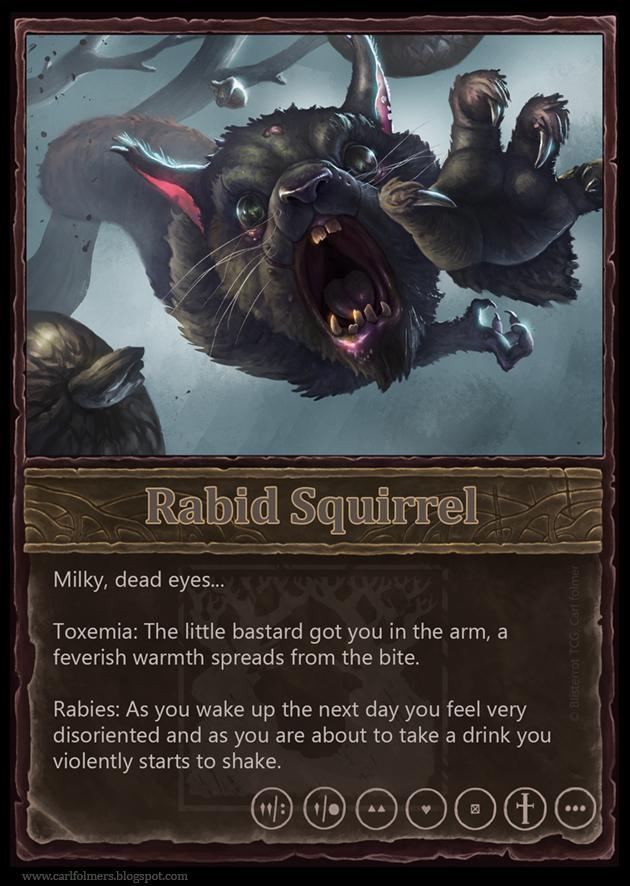 Rabid squirrel by CarlfolmerART