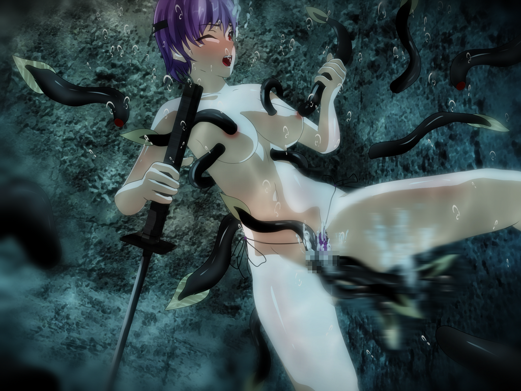 Ayane vs Sea Leeches by wave-lens