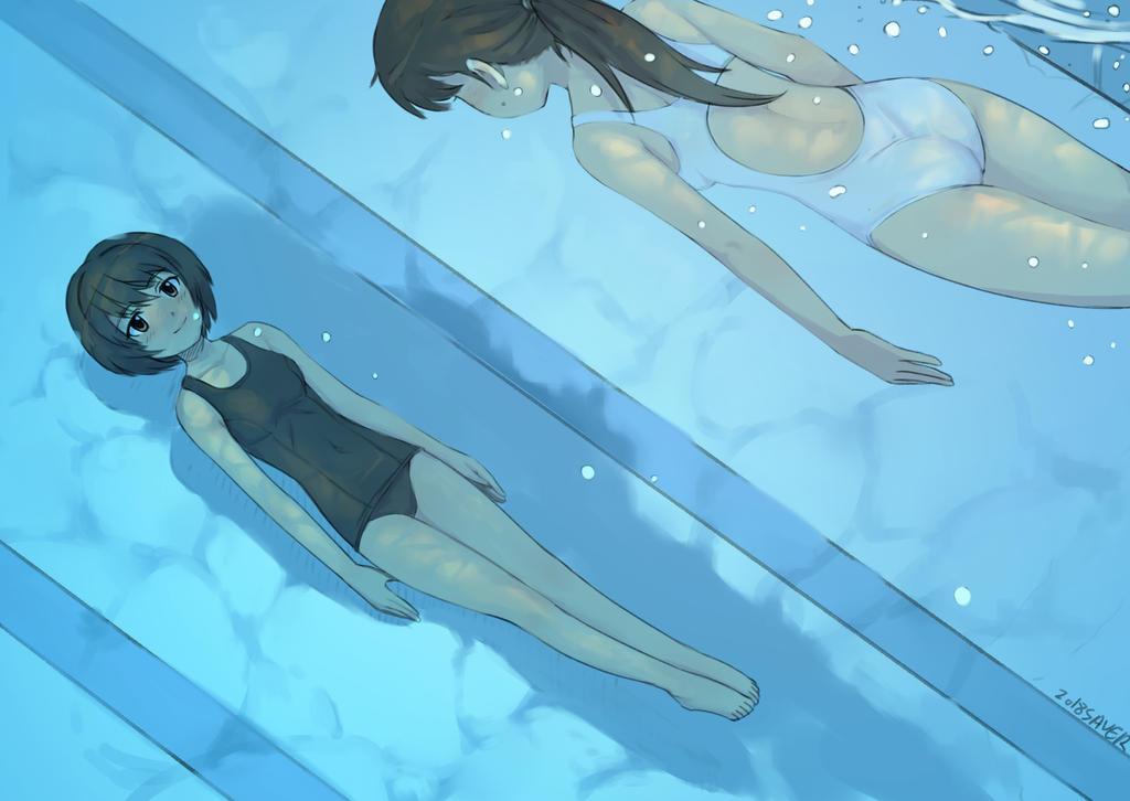 Cobalt Premium: Sadako and Chihaya by wave-lens