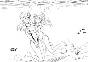 Patreon: Takami and Chihaya by wave-lens