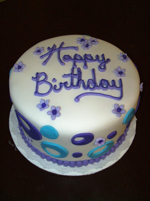 Purple Birthday Cake By See Through Silence On Deviantart