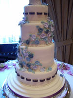 Ribbon wedding cake by see-through-silence