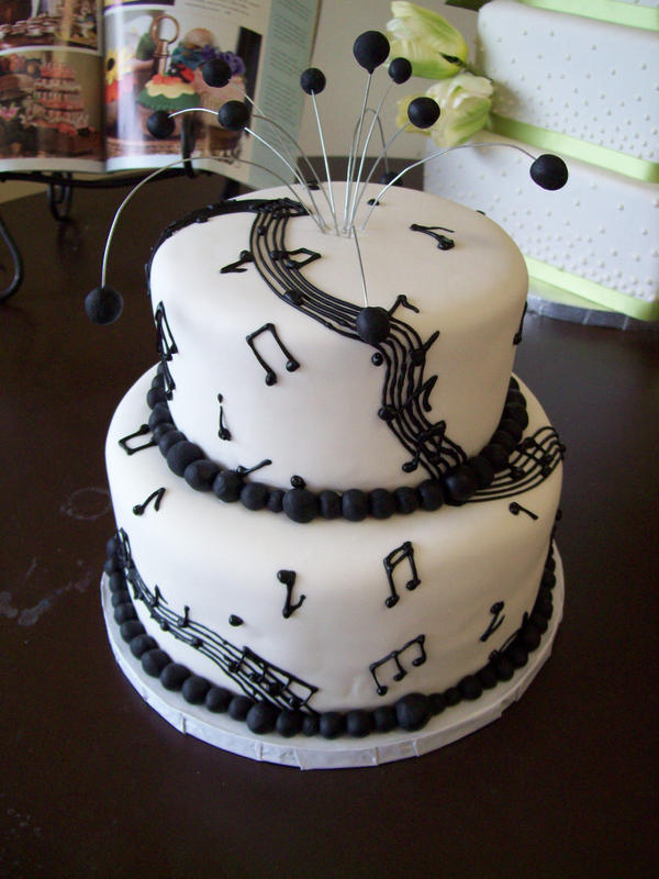 Musical birthday cake by seethroughsilence on DeviantArt