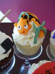 Koi fish cupcake