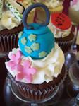 Paper lantern cupcake
