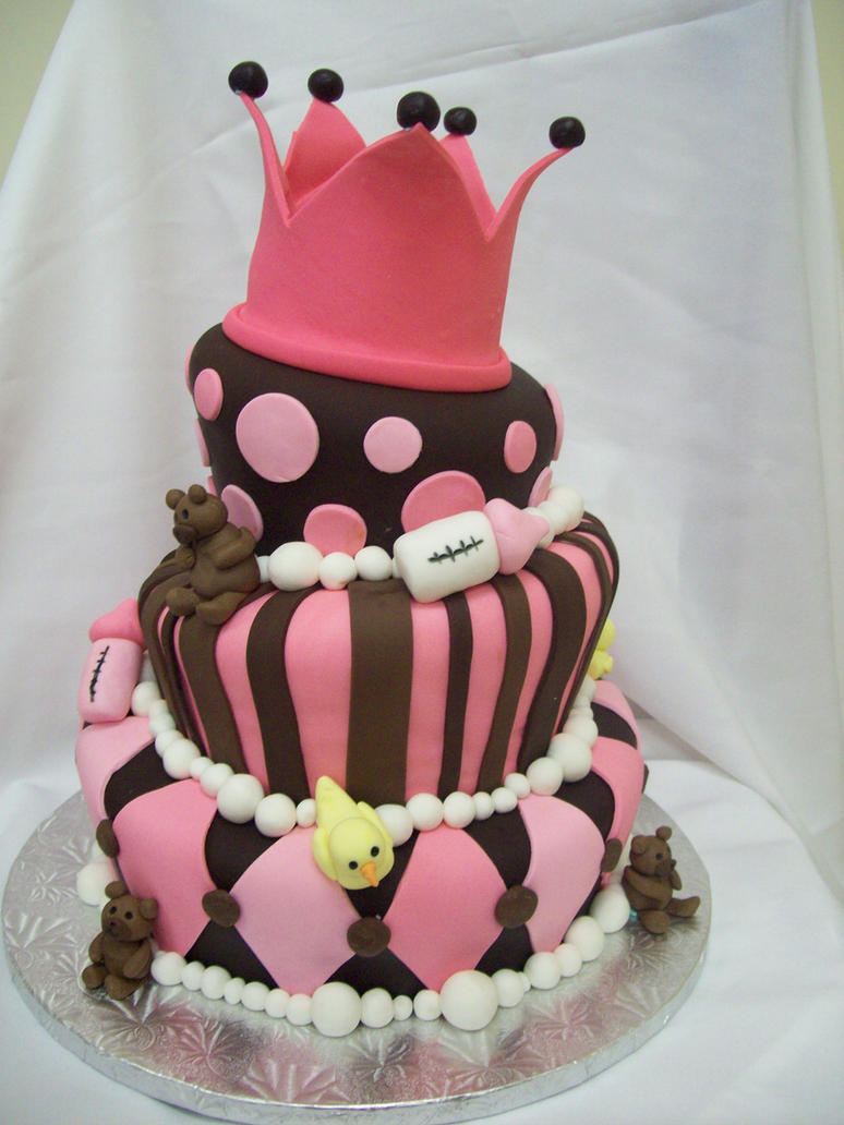topsy turvy baby shower cake by see-through-silence