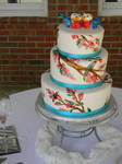 Chirp wedding cake